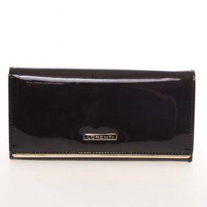 Luxusní lakovaná kožená černá peněženka – Lorenti 64003SH černá