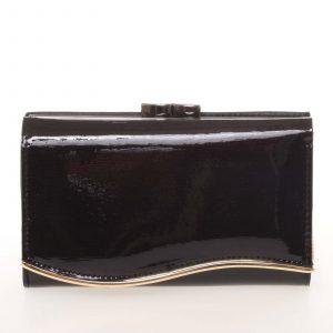 Noblesní dámská lakovaná kožená peněženka černá – Lorenti 74108SH černá