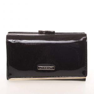 Jedinečná dámská lakovaná kožená peněženka černá – Lorenti 55020SH černá
