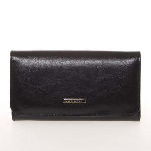 Módní dámská kožená černá peněženka střední velikosti – Lorenti GF110SL černá