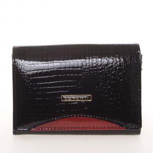Dámská moderní lakovaná kožená peněženka černá – Lorenti 446RS černá