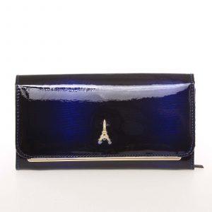 Stylová kožená lakovaná dámská peněženka tmavě modrá – PARIS 74110DSHK modrá