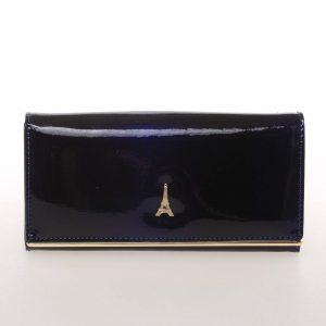 Jedinečná kožená lakovaná dámská peněženka modrá – PARIS 64003DSHK modrá