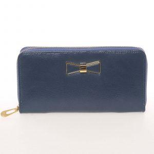 Moderní dámská peněženka s poutkem modrá – Milano Design SF1821 modrá
