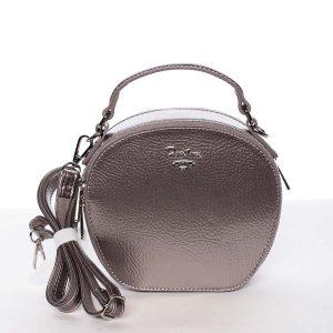 Exkluzivní dámská lesklá crossbody kabelka stříbrná – David Jones Lucile stříbrná