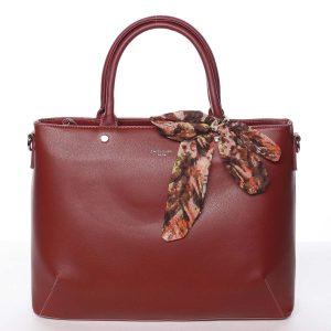 Módní dámská tmavě červená kabelka s mašlí – David Jones Harriet červená
