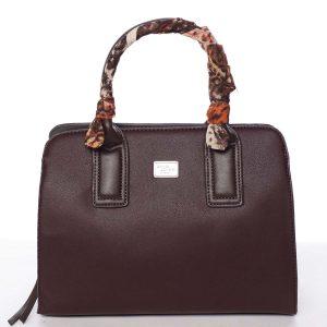 Stylová trendy dámská kabelka do ruky tmavě fialová – David Jones Crescent fialová