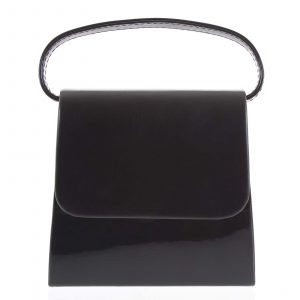 Luxusní dámské psaníčko/kabelka lakované černé – Delami Viseria černá