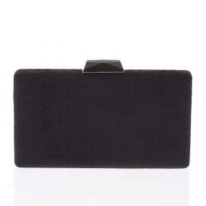 Luxusní semišové originální černé psaníčko – Delami ZL093 černá