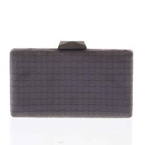 Luxusní semišové originální tmavě šedé psaníčko – Delami ZL093 šedá