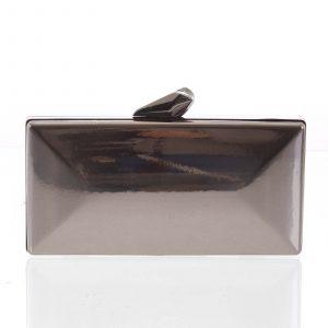 Luxusní lakované dámské šedé psaníčko – Delami Presha šedá