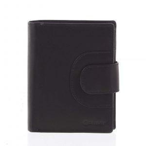 Pánská kožená prošívaná peněženka černá – Diviley Universe černá