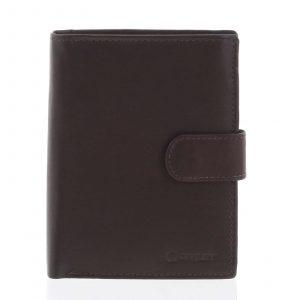 Větší pánská hnědá kožená peněženka se zápinkou – Diviley Heelal hnědá