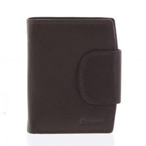 Elegantní hnědá kožená peněženka se zápinkou – Diviley Universit hnědá