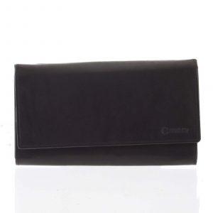 Dámská klasická černá kožená peněženka – Diviley Uniberso černá