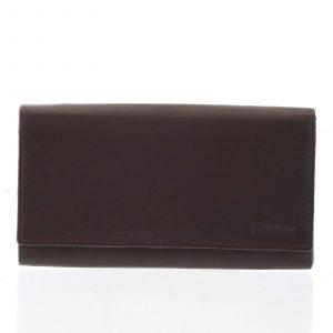 Dámská klasická hnědá kožená peněženka – Diviley Uniberso hnědá
