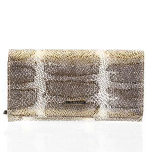 Velká zlatá kožená lakovaná peněženka se zlatým vzorem- Lorenti 107SK zlatá