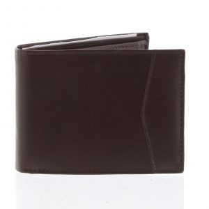 Pánská hnědá kožená volná peněženka – Tomas Paast hnědá
