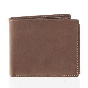 Prostorná pánská kožená hnědá peněženka – Tomas Vilaj hnědá