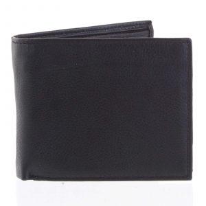 Prostorná pánská kožená černá peněženka – Tomas Vilaj černá