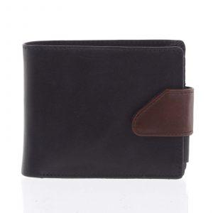 Hladká pánská černá kožená peněženka – Tomas 76VT černá