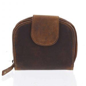 Kvalitní dámská kožená retro peněženka hnědá – Tomas 155VN hnědá