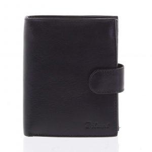 Pánská kožená černá peněženka se zápinkou – Delami Lunivers černá