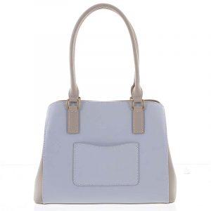 Módní dámská kožená modro písková kabelka – Hexagona Zotico modrá