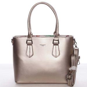 Elegantní střední dámská zlatá kabelka – David Jones Deysi zlatá
