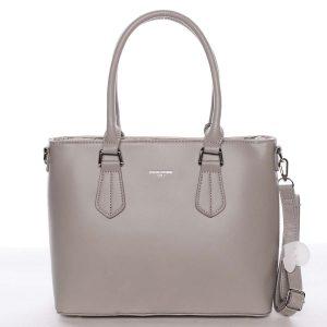 Elegantní střední dámská šedá kabelka – David Jones Deysi šedá