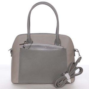 Exkluzivní dámská šedá zaoblená kabelka – David Jones Hiliery šedá