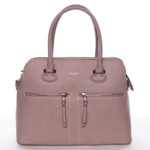 Stylová střední dámská růžová kabelka – David Jones Stephany růžová