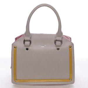 Malá originální dámská kabelka do ruky šedá – David Jones Aglaia šedá