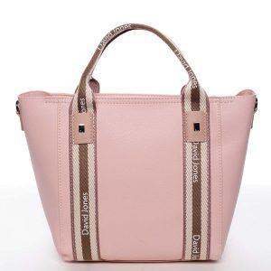 Moderní dámská růžová kabelka do ruky – David Jones Agna růžová