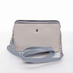 Malá elegantní a moderní crossbody kabelka krémově šedá – David Jones Melany šedá