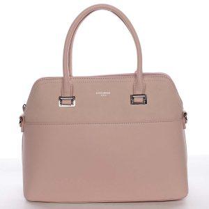 Větší dámská elegantní a módní růžová kabelka – David Jones Angie růžová