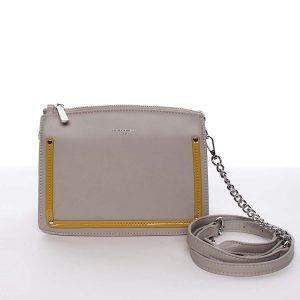 Malá originální crossbody kabelka šedá – David Jones Yuriko šedá