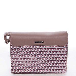 Exkluzivní tmavě růžová dámská crossbody kabelka – David Jones Evelyn růžová