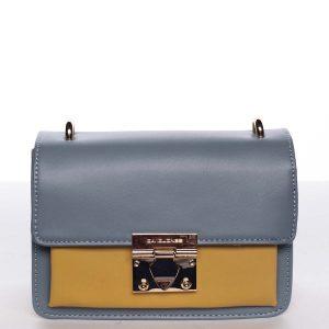 Extravagantní dámská modro žlutá crossbody kabelka – David Jones Magaly modrá