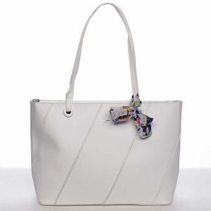Velká elegantní a originální dámská bílá kabelka přes rameno – David Jones Keiko bílá