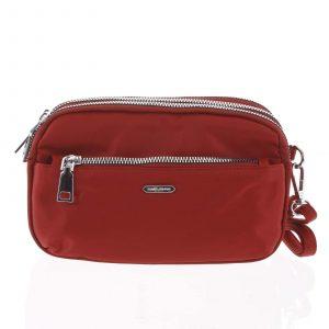 Stylová malá dámská crossbody kabelka tmavě červená – David Jones Lizbeth červená
