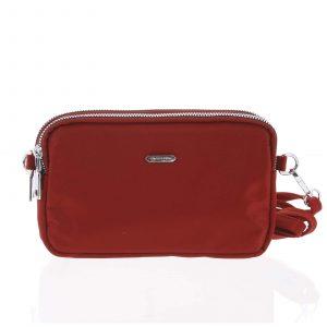 Stylová malá dámská crossbody kabelka tmavě červená – David Jones Nicolle červená