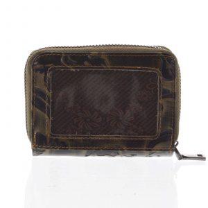 Malá dámská peněženka kožená měděná – Rovicky 5157 zelená