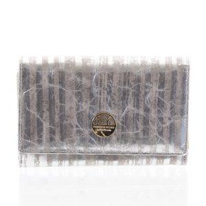 Dámská peněženka kožená stříbrná – Rovicky 76112 stříbrná