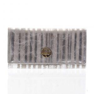Elegantní dámská kožená peněženka stříbrná – Rovicky 64003 stříbrná