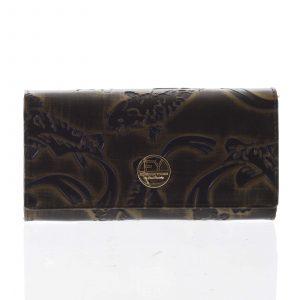 Elegantní dámská kožená peněženka měděná – Rovicky 64003 zelená