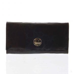 Elegantní dámská kožená peněženka černá – Rovicky 64003 černá