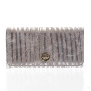 Dámská peněženka velká kožená stříbrná – Rovicky 1077 stříbrná
