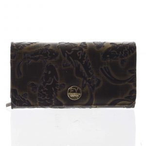 Dámská peněženka velká kožená měděná – Rovicky 1077 zelená