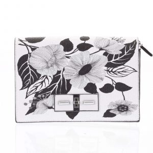 Jedinečná bílo černá crossbody kabelka – Silvia Rosa Aracely bílá